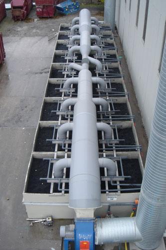 Air filteri housing and piping