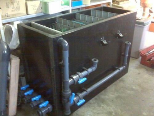 Custom waste water cleaning tank